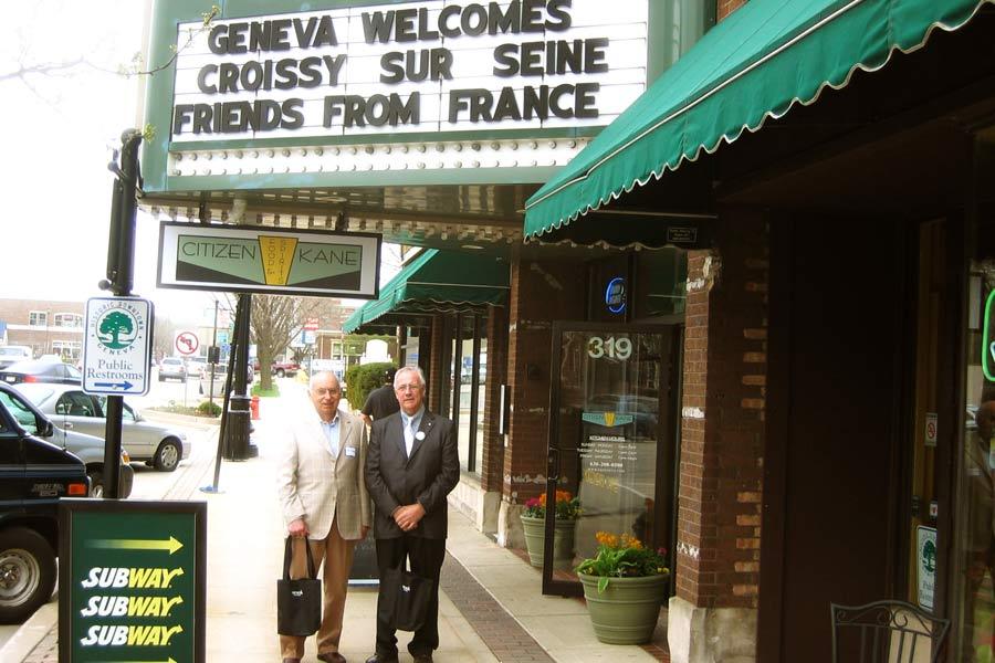 Accueil de la délégation française à Geneva
